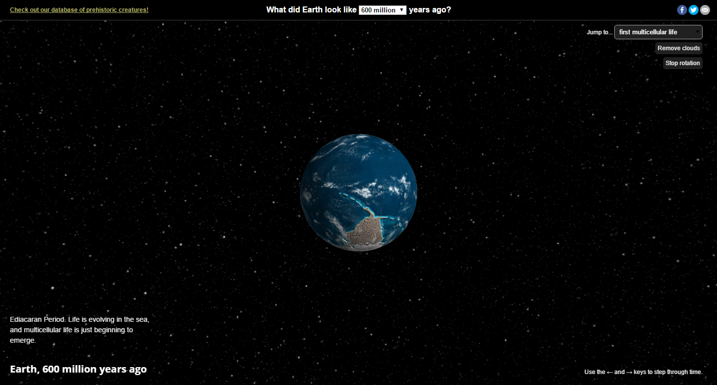 Ancient Earth an awesome Chrome Experiment